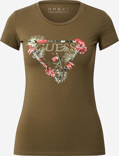 GUESS T-shirt 'LORY' en kaki, Vue avec produit