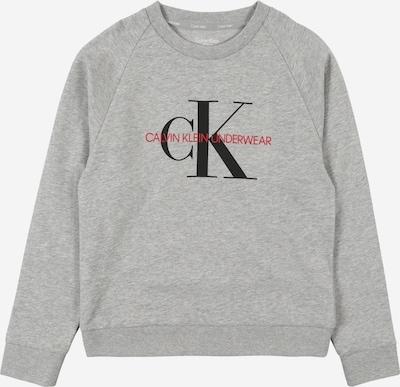 Calvin Klein Underwear Sweatshirt in graumeliert / hellrot / schwarz, Produktansicht