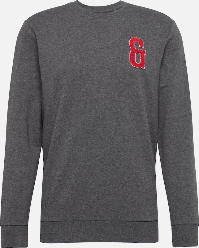 Only & Sons Sweatshirt 'onsNIK Crew Neck' in dunkelgrau, Produktansicht