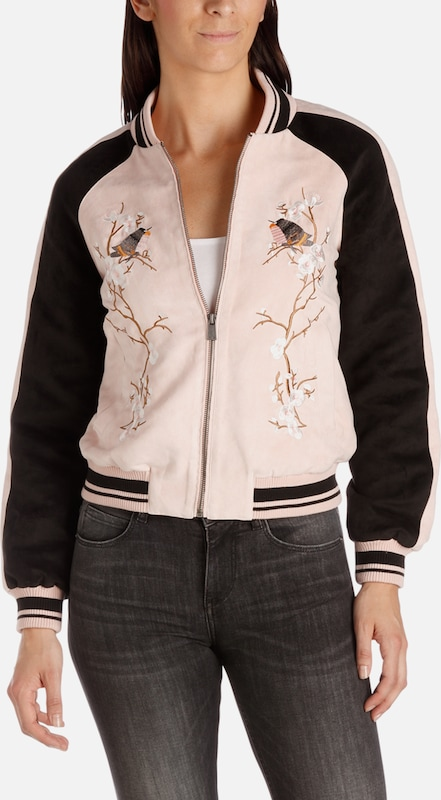 Fritzi aus Preußen Bomber Jacket ' Greensboro Fake Suede Embroidery '