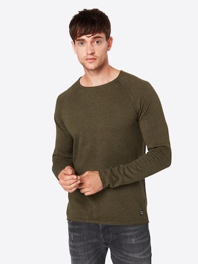 JACK & JONES Sweter 'Jjeunion Knit Crew Neck' w kolorze khakim, Podgląd na modelu(-ce)