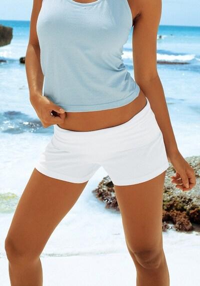 BEACH TIME Strandshorts in weiß, Modelansicht