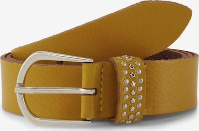 TOM TAILOR Belts Ledergürtel mit Nieten-Details in gelb / silber, Produktansicht