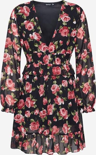 Boohoo Kleid  'Floral Plunge ' in rot / schwarz, Produktansicht