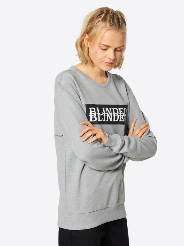 Sweat Blanc 'btobblinded2' En Gris ChinéNoir shirt Beck2beck k80nwPO