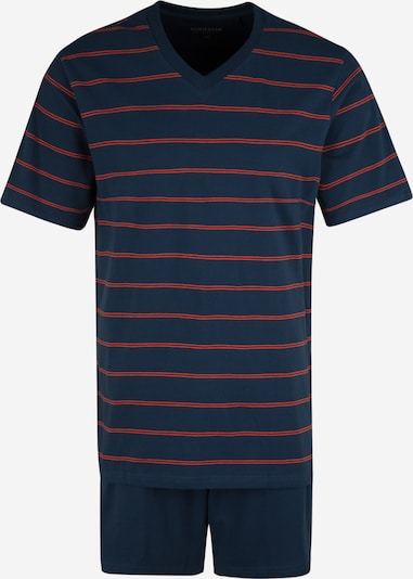 SCHIESSER Kratka pidžama u plava / hrđavo crvena, Pregled proizvoda