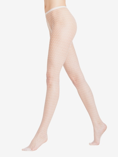 FALKE Collants 'Diamond' en blanc: Vue de face