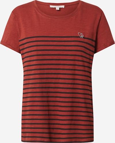 TOM TAILOR DENIM T-Shirt in rot / schwarz, Produktansicht
