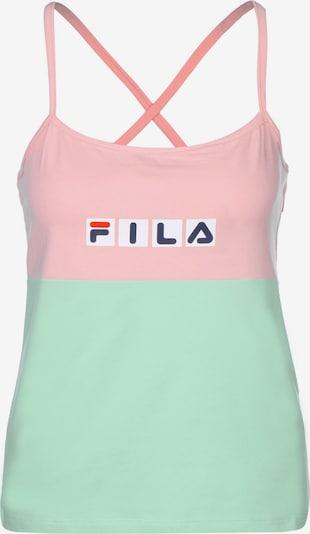 FILA Top 'Chrissy W' in türkis / pink, Produktansicht