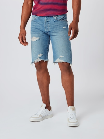 LEVI'S Jeansshorts in blue denim, Modelansicht