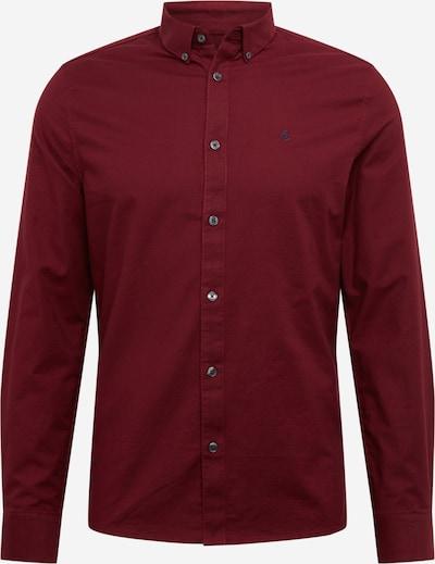 BURTON MENSWEAR LONDON Hemd 'BRUSHED BURGUNDY OXFORD SHIRT' in burgunder, Produktansicht