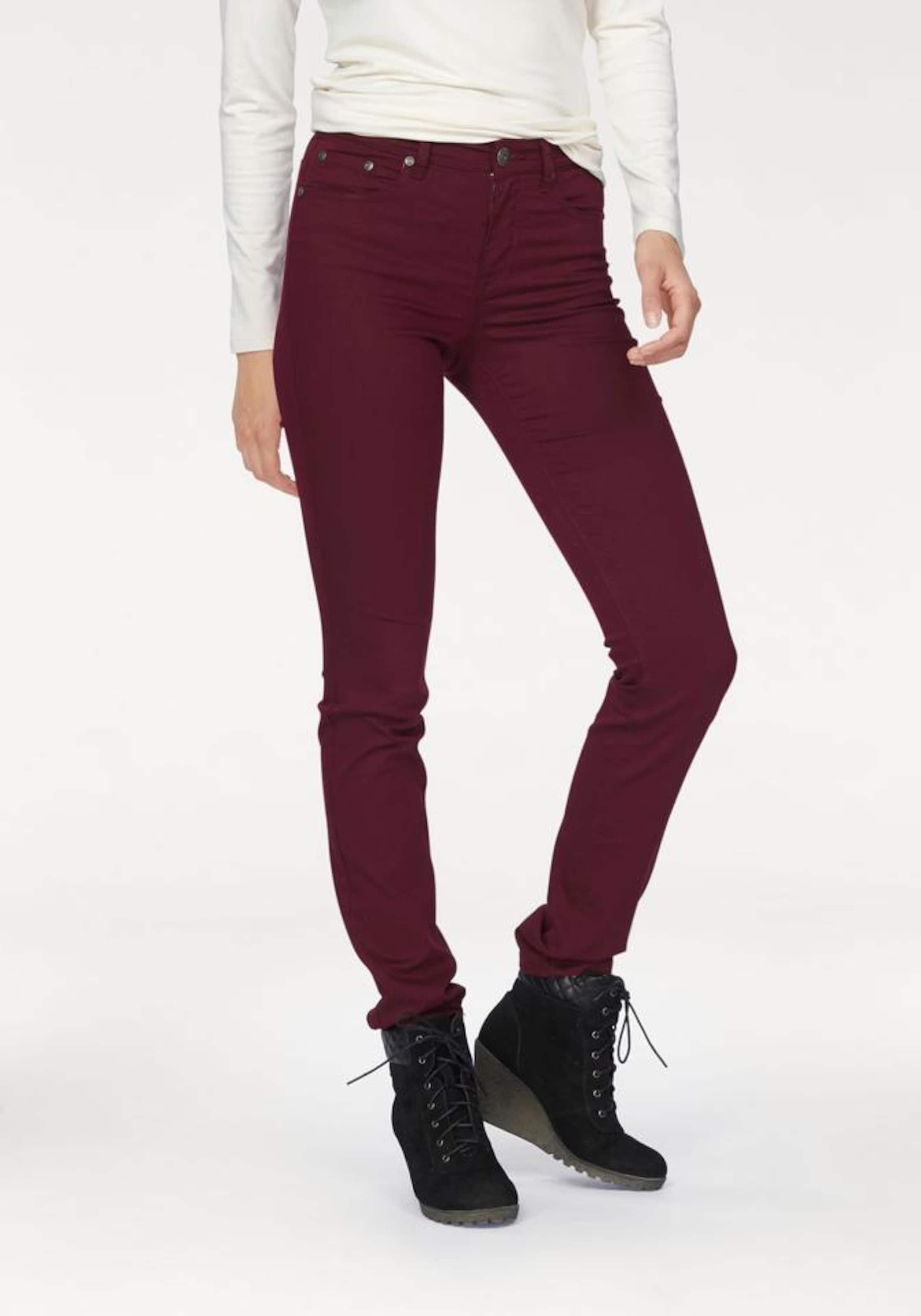 ARIZONA Jeans in bordeaux    Freizeit, schlank, schlank 6cbbe6