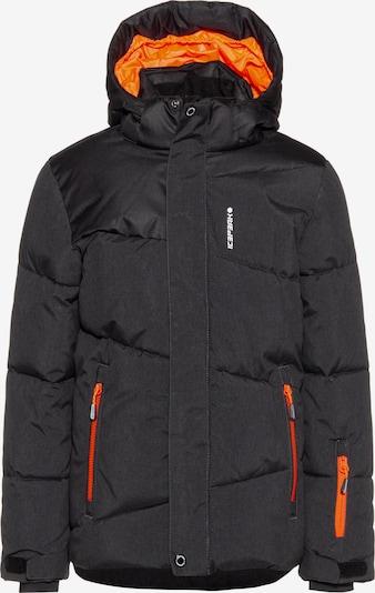 ICEPEAK Jacke 'Linton' in orange / schwarzmeliert, Produktansicht
