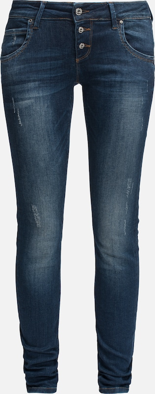 Miracle of Denim Jeans 'Ulla' in blue denim: Frontalansicht