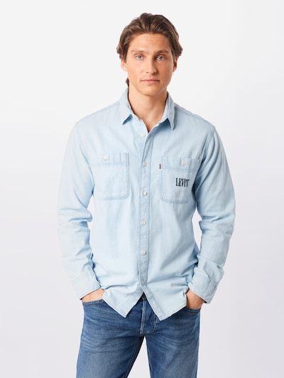 LEVI'S Hemd 'NEW CAMP' in indigo: Frontalansicht