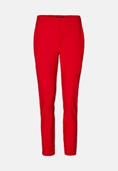 EVITA Pantalon à plis en rouge: Vue de face