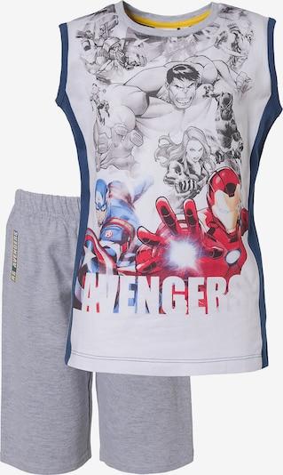 Marvel Avengers Set in blau / graumeliert / rot, Produktansicht