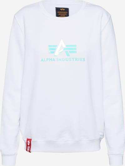 ALPHA INDUSTRIES Sweatshirt 'Rainbow Sweater' in weiß, Produktansicht