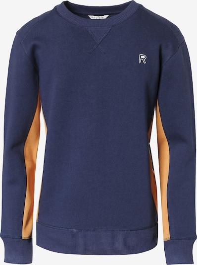 REVIEW FOR TEENS Sweatshirt in nachtblau / hellorange, Produktansicht