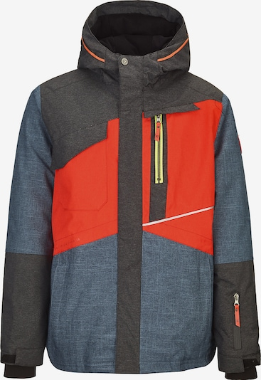 KILLTEC Skijacke 'Nelson' in taubenblau / dunkelgrau / orangerot, Produktansicht