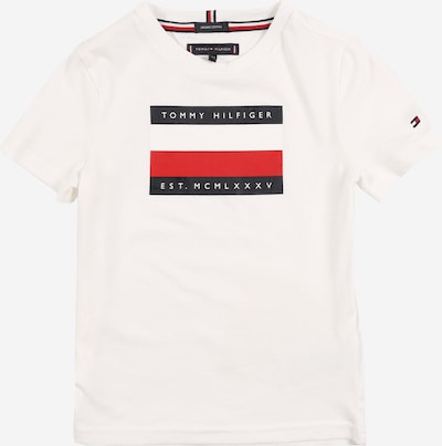 TOMMY HILFIGER T-Shirt 'AJ D MSW COPR STRIPE BOX TEE S/S' en blanc: Vue de face
