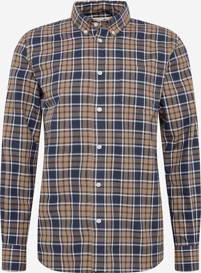 By Garment Makers Hemd 'Danny' in beige / navy / weiß, Produktansicht