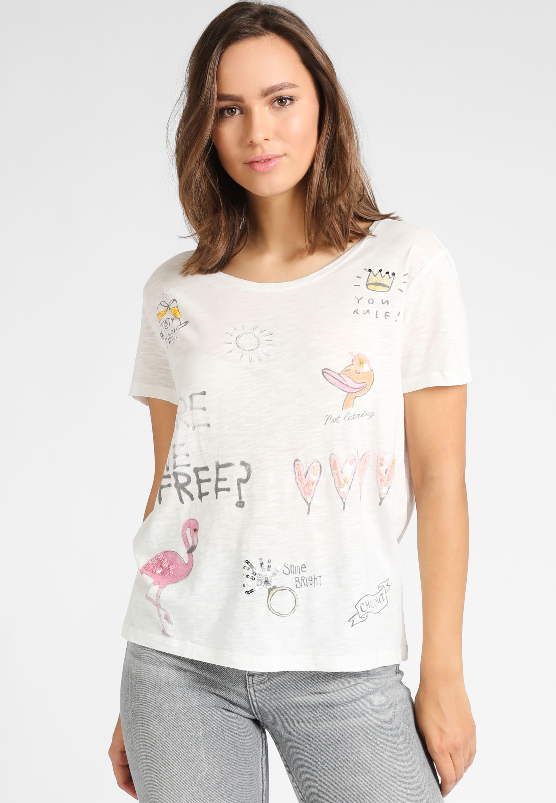 T shirt In RosaSchwarz Grace Offwhite 0OPnw8k