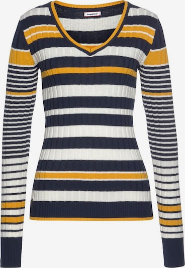 KangaROOS Pullover in marine / goldgelb / weiß, Produktansicht