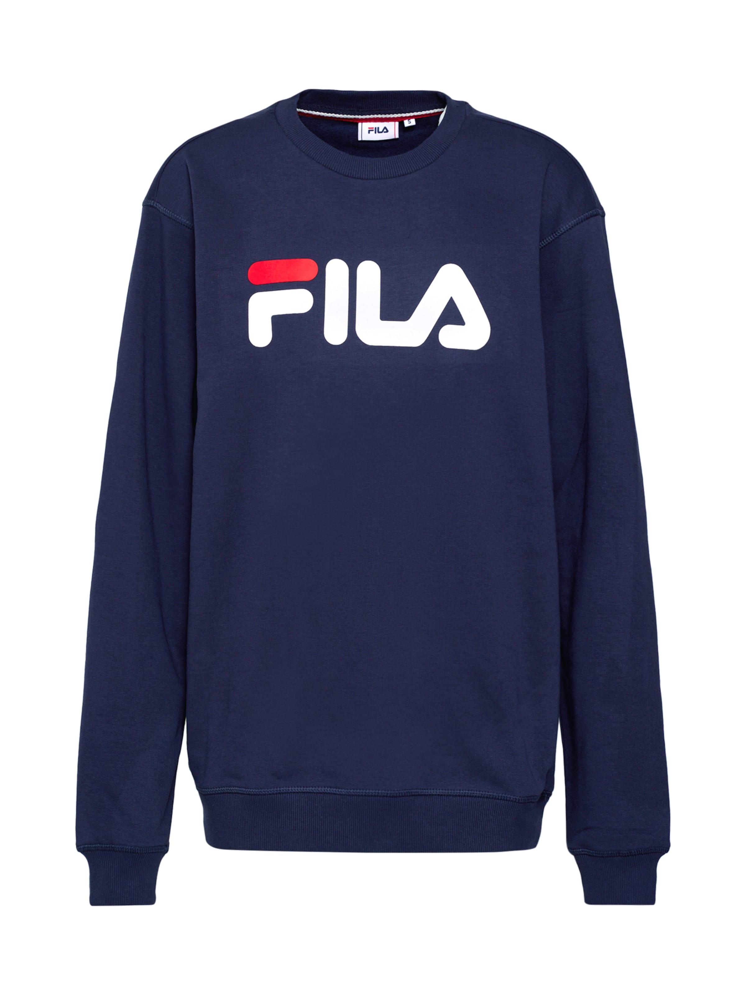 MarineRouge shirt 'pure Crew Blanc Sweat En Fila Sweat' Bleu TlKJF1c