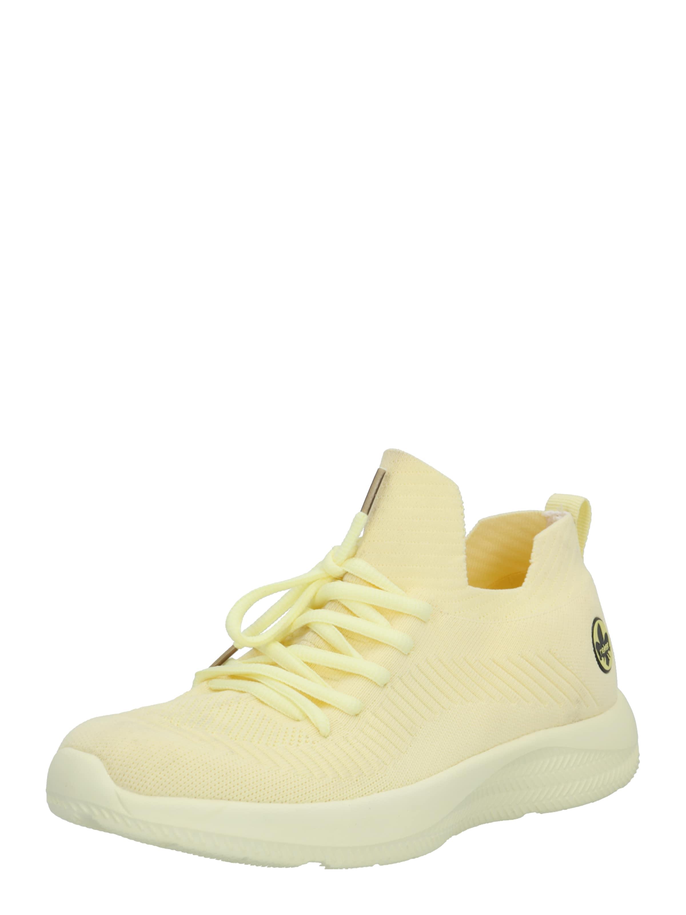 RIEKER Rövid szárú edzőcipők világos sárga színben
