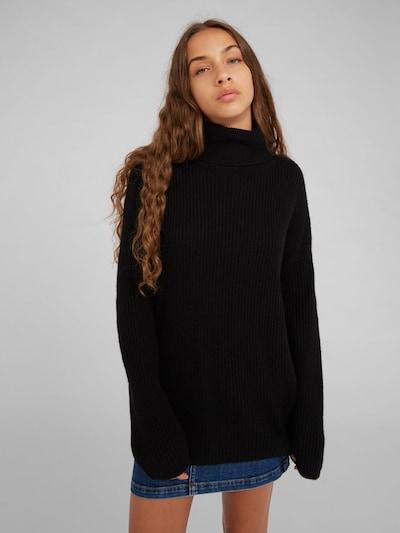 EDITED Pull-over 'Allegra' en noir, Vue avec modèle
