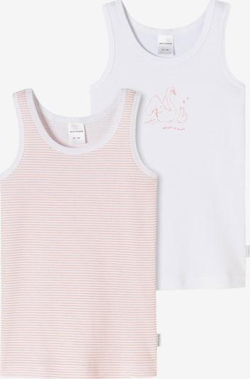 SCHIESSER Unterhemden in hellorange / weiß, Produktansicht
