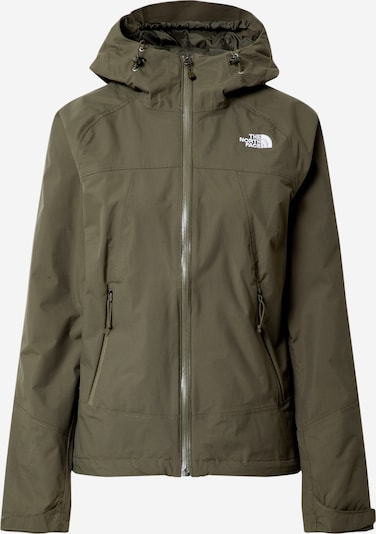THE NORTH FACE Sport-Jacke 'Stratos' in oliv / weiß, Produktansicht