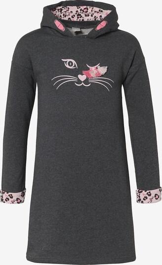 KANZ Sweatkleid in graphit / graumeliert / rosa, Produktansicht