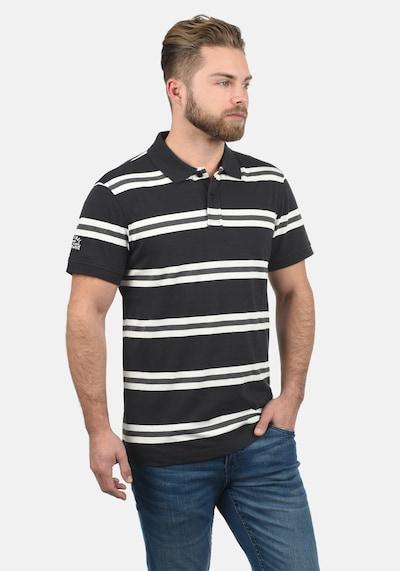 BLEND Poloshirt 'Pique' in schwarz: Frontalansicht