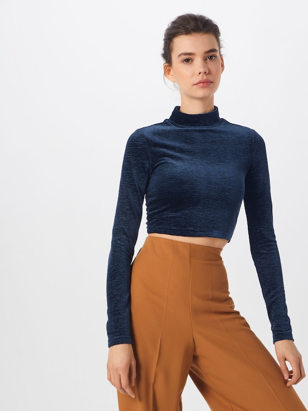 En Bleu T Foncé Review shirt Crop Top' 'velvet zjMpLSGUVq