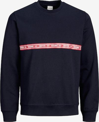 Jack & Jones Junior Sweatshirt in nachtblau / rot / weiß, Produktansicht
