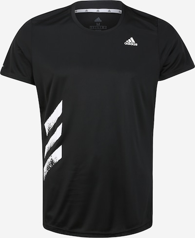 ADIDAS PERFORMANCE T-Shirt fonctionnel 'Run It' en noir / blanc, Vue avec produit