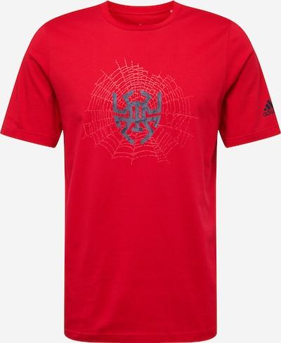 ADIDAS PERFORMANCE T-Shirt fonctionnel 'D.O.N. Issue #2 Sense' en bleu marine / rouge feu, Vue avec produit