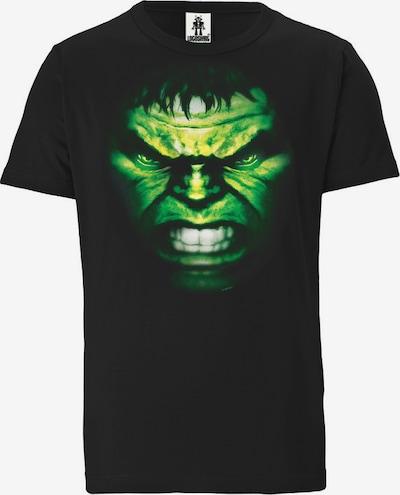 LOGOSHIRT T-Shirt in grün / schwarz, Produktansicht