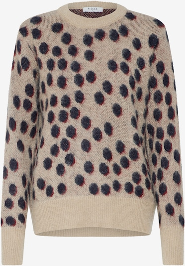 PIECES Pullover 'CHAIM' in beige, Produktansicht