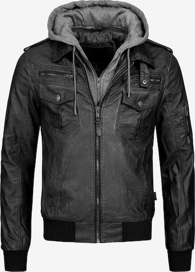 INDICODE JEANS Bikerjacke 'Aaron' in grau / schwarz, Produktansicht