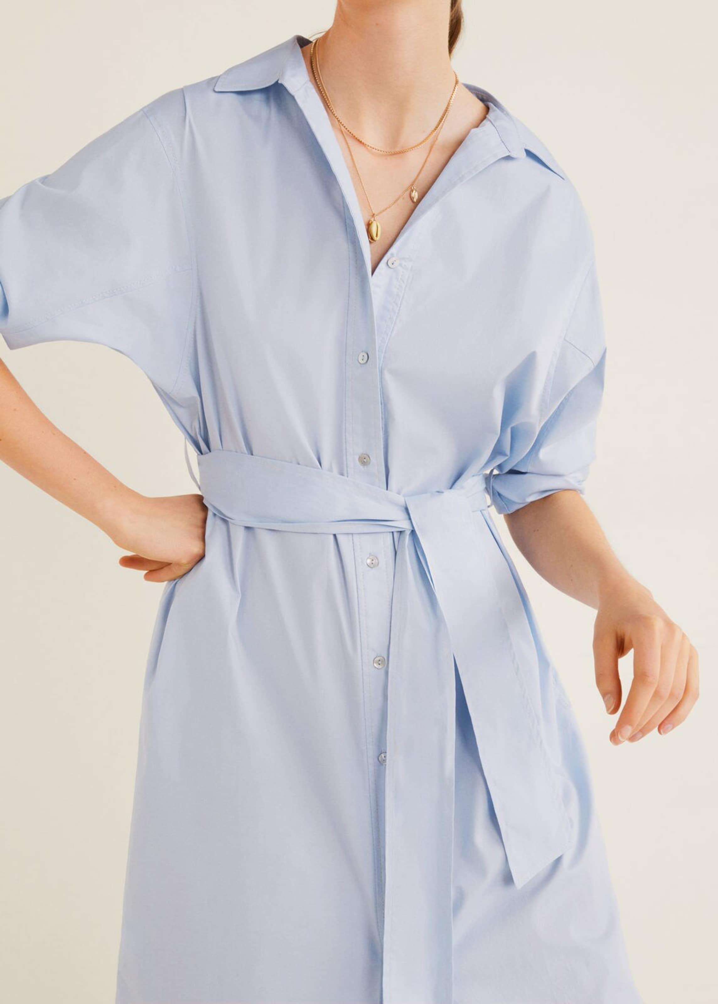 Pastellblau Kleid Kleid 'cuscus' Mango Mango In vmwPyN8n0O