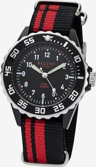 REGENT Uhr '12400256' in rot / schwarz, Produktansicht