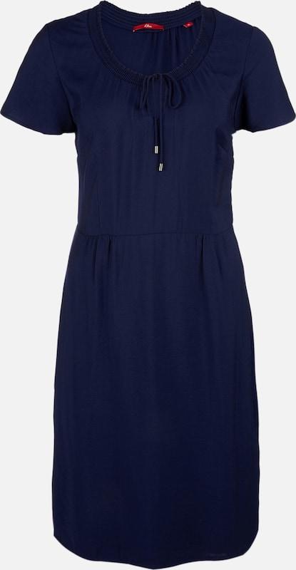 S.Oliver rot LABEL Kleid in dunkelblau  Bequem und günstig