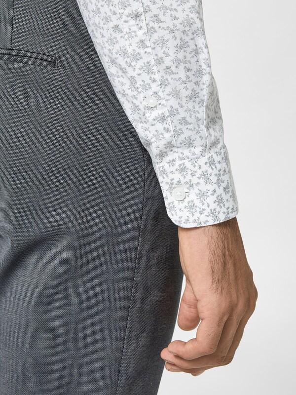 SELECTED HOMME Schmal geschnittenes Langarmhemd