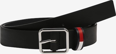Tommy Jeans Gürtel 'FLAG INLAY 3.0' in schwarz, Produktansicht