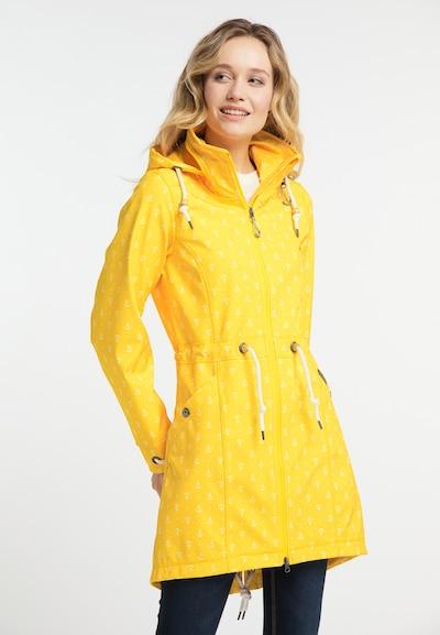 Schmuddelwedda Mantel in gelb / weiß, Modelansicht