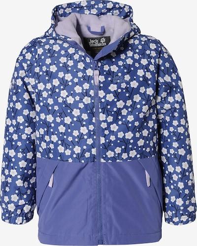 JACK WOLFSKIN Winterjacke 'Snowy Days' in royalblau / schwarz / weiß, Produktansicht