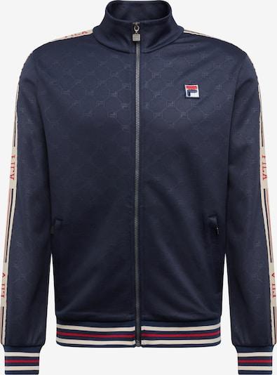 FILA Sweatvest 'IRODION Track Jacket' in de kleur Donkerblauw / Rood / Wit, Productweergave